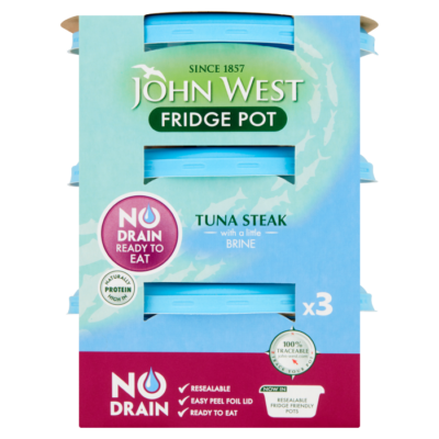 No Drain Fridge Pot Tuna Steak With A Little Brine – 3 X 110g